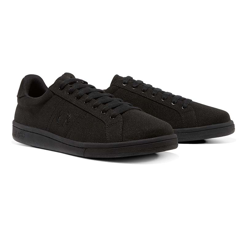 Tricot Sneaker in BLACK by Fred Perry