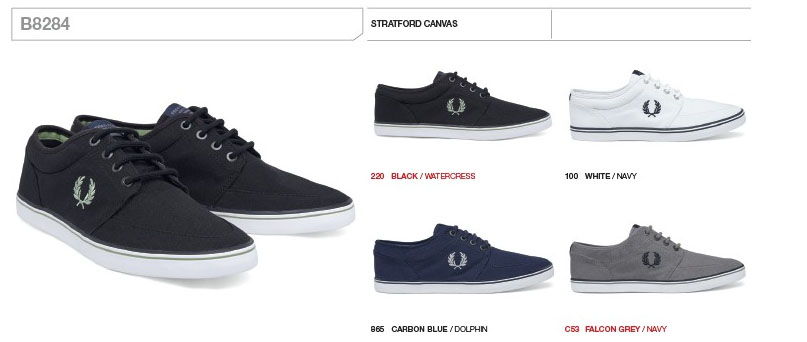wholesale dealer 315c2 0a510 Stratford Canvas Sneaker by Fred Perry (SALE-Black uk 11 only)