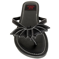 Betty Black Bat Flip flop Sandal by Strange Cvlt - sz 6 only