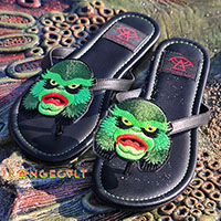 Betty Creature Flip flop Sandal by Strange Cvlt