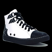 Chelsea High Top Sneaker by Strange Cvlt - Black/White