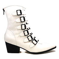Coven Boot by Strange Cvlt - in White