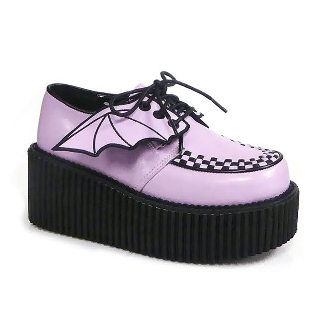 Lavender Bat Wing Creeper by Demonia Footwear - Vegan Leather