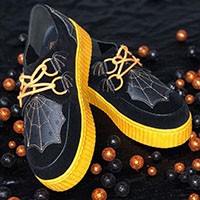 Krypt Halloween Limited Edition Creepers by Strange Cvlt - in black and orange - sz 7 & 11 only