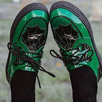 Dre Ronayne Limited Edition X Krypt Creepers by Strange Cvlt - in Monster Green - SALE last pair sz 6 only