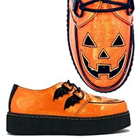 Krypt Halloween Limited Edition Creepers by Strange Cvlt - in Orange Glitter