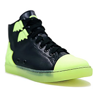 Chelsea Glow In The Dark Web High Top Sneaker by Strange Cvlt - SALE
