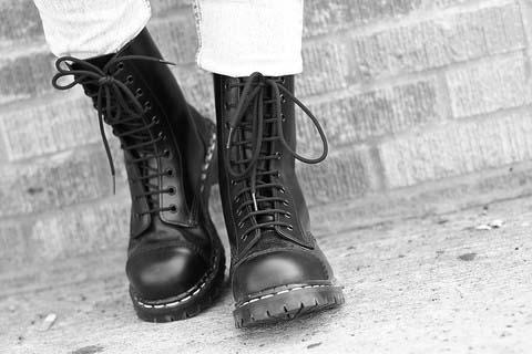 ebe5068d71ca 10 Eye Steel Toe Boot in BLACK by Gripfast (Made In England!)