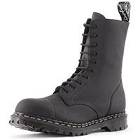 10 Eye Steel Toe Boot in BLACK GREASY by Gripfast (Made In England!)