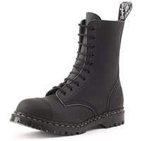 10 Eye Steel Toe Boot in BLACK VEGAN by Gripfast (Made In England!)