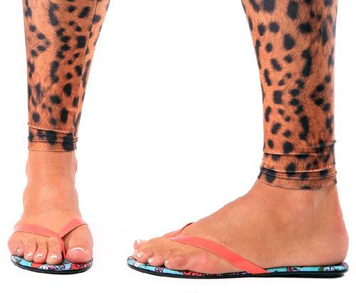 Kokomoan Tropical Flip Flops / Sandals by Iron Fist - SALE