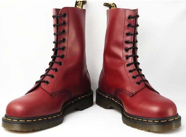 10 Eye Cherry Smooth Dr. Martens Boot. » 5d41ce74e076