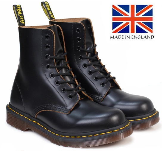 8 Eye Black Dr. Martens Boot (MADE IN ENGLAND!)