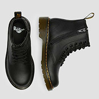 8 Eye Black Softy Leather Kids Boot by Dr. Martens