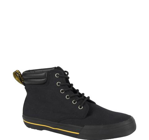 Eason 6 Eye Padded Collar Canvas Dr. Martens Boot- Black (Sale price!)