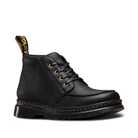 Austin Moc Toe SoftWair 4 Eye Boot in Black Grizzly by Dr. Martens