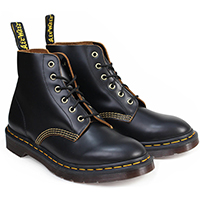 6 Eye 101 Archive In Vintage Black Smooth by Dr. Martens