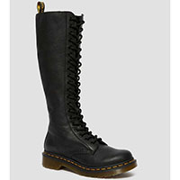 20 Eye Black Virginia Zippered Boots by Dr. Martens (Womens)