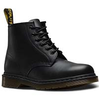 6 Eye Black Smooth Dr. Martens Boots