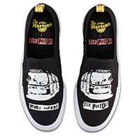 Sex Pistols- Pretty Vacant Canvas Slip Ons by Dr. Martens