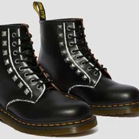 8 Eye Black Studded Dr. Martens Boot