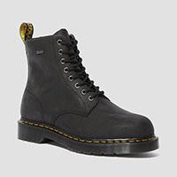 8 Eye Black Waterproof Boots in Black by Dr. Martens