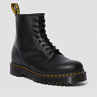 8 Eye Black Smooth Boot With BEX Sole by Dr. Martens