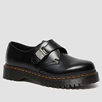 Fenimore Buckle Gibson in Black Polished Smooth by Dr. Martens