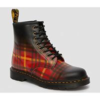 8 Eye McMarten Tartan Black Leather Boots by Dr. Martens