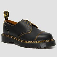 3 Eye Double Stitch BEX Sole Shoe in Black by Dr. Martens