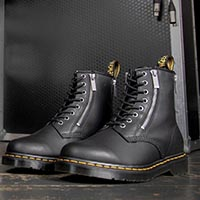 8 Eye Boots With Zippers by Dr. Martens