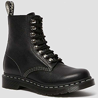 8 Eye Hook Pascal Boots by Dr. Martens- Black Virginia (Womens)