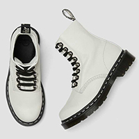 8 Eye Pascal Boot in Bone by Dr. Martens