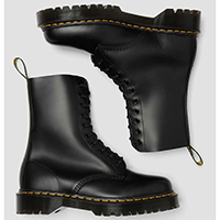 10 Eye Black Smooth Boot With BEX Sole by Dr. Martens
