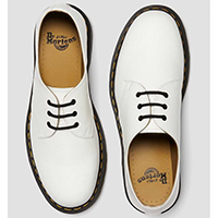 3 Eye White Smooth Gibson by Dr. Martens