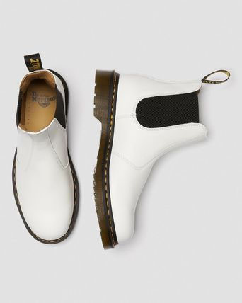 Chelsea Boot in White Smooth by Dr. Martens
