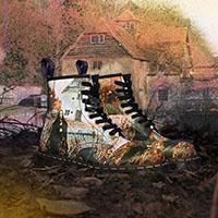 8 Eye Black Sabbath Boots by Dr. Martens