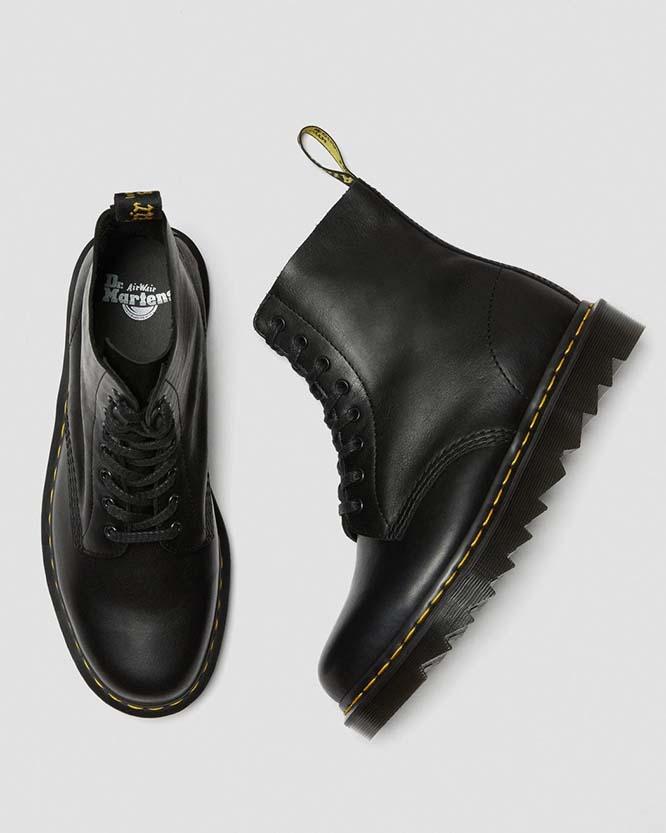 8 Eye Pascal Ziggy Sole Boot in Black