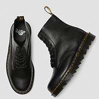8 Eye Pascal Ziggy Sole Boot in Black Napa by Dr. Martens