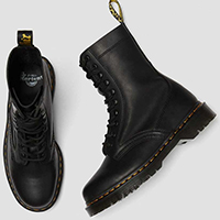 Harron Leather Mid Calf Moto Boots by Dr. Martens