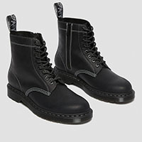 8 Eye Pascal Zipper Boot in Black by Dr. Martens