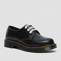 3 Eye Heart Shoe in Black by Dr. Martens