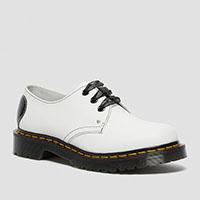 3 Eye Heart Shoe in White by Dr. Martens