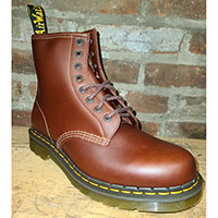 8 Eye Brown & Black Abruzzo Boots by Dr. Martens