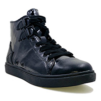 Chelsea Black Out High Top Sneaker by Strange Cvlt - SALE sz 10 only