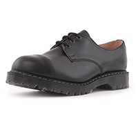 Classic 3 Eye Steel Toe Gibson in BLACK by Solovair (Made In England!)