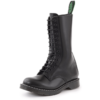Derby 14 Eye Boot in BLACK by Solovair (Made In England!)