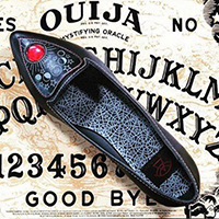 Spirit Ouija Planchette Flat by Strange Cvlt - Black - SALE sz 7 only
