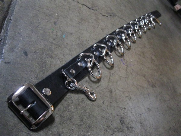 9 Ring Bondage Belt by Ape Leather