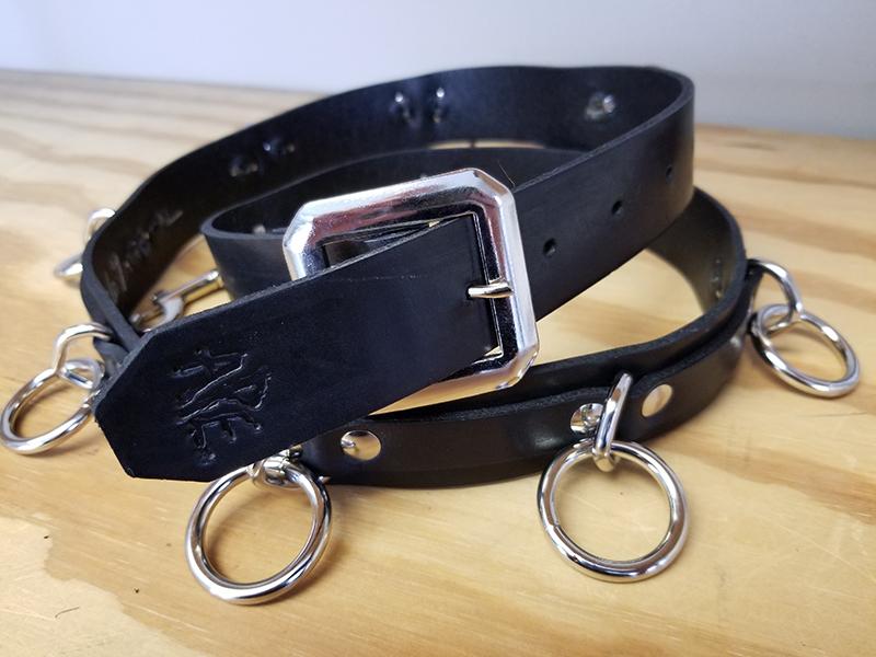 9 Ring Bondage Belt by Ape Leather